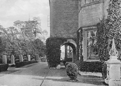 The North Porch. Photograph in Gardens Old and New Vol III (Country Life, c 1910).