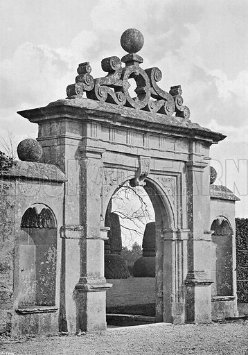 The Old Gateway. Photograph in Gardens Old and New Vol III (Country Life, c 1910).