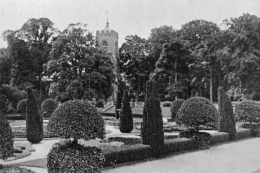 The East Terrace Walk. Photograph in Gardens Old and New Vol III (Country Life, c 1910).