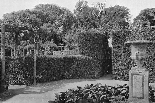 Near the Rosery. Photograph in Gardens Old and New Vol III (Country Life, c 1910).