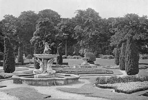 The Church Terrace, East Garden. Photograph in Gardens Old and New Vol III (Country Life, c 1910).