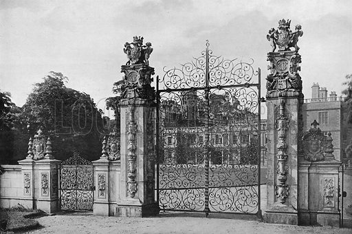 The South Entrance. Photograph in Gardens Old and New Vol III (Country Life, c 1910).