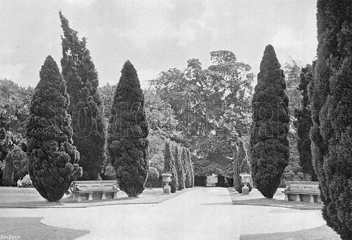 The Crossways, South Garden. Photograph in Gardens Old and New Vol III (Country Life, c 1910).
