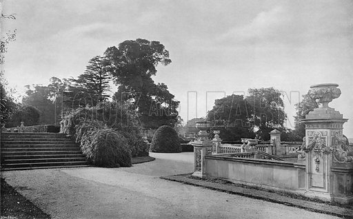 Evening in the North Garden. Photograph in Gardens Old and New Vol III (Country Life, c 1910).