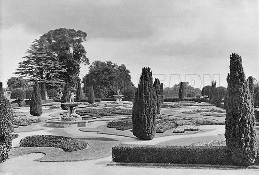 From the South Terrace. Photograph in Gardens Old and New Vol III (Country Life, c 1910).