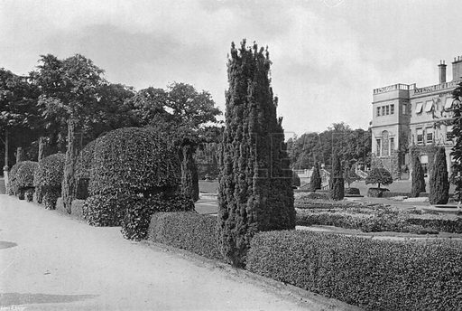 The Central Walk. Photograph in Gardens Old and New Vol III (Country Life, c 1910).