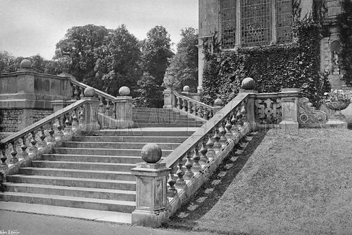 East Garden Stairway. Photograph in Gardens Old and New Vol III (Country Life, c 1910).