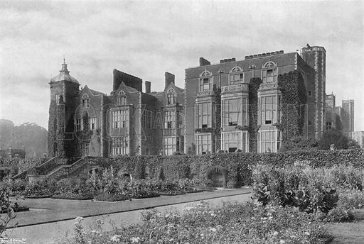 East Facade. Photograph in Gardens Old and New Vol III (Country Life, c 1910).