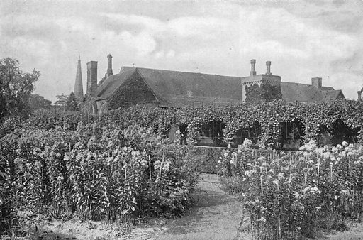 In the Priory Garden. Photograph in Gardens Old and New Vol III (Country Life, c 1910).
