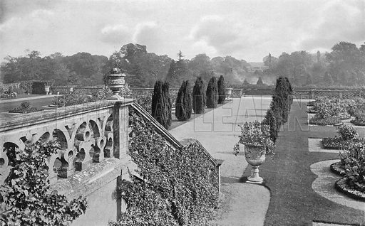 Stairway to the East Garden. Photograph in Gardens Old and New Vol III (Country Life, c 1910).