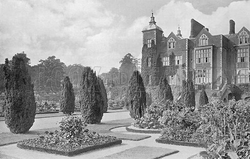 Centre Walk of East Garden. Photograph in Gardens Old and New Vol III (Country Life, c 1910).
