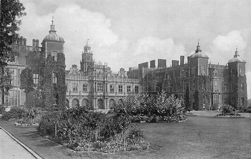 South Facade. Photograph in Gardens Old and New Vol III (Country Life, c 1910).