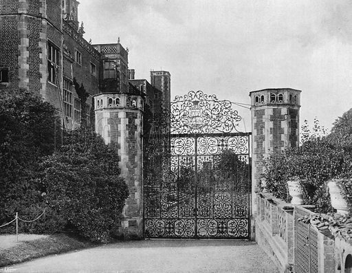 East Gateway on the North Front. Photograph in Gardens Old and New Vol III (Country Life, c 1910).