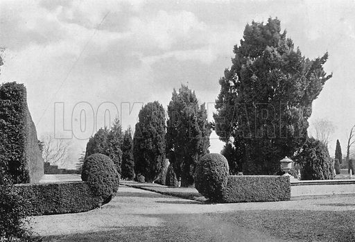 The Raised Terraces of the Privy Garden. Photograph in Gardens Old and New Vol III (Country Life, c 1910).