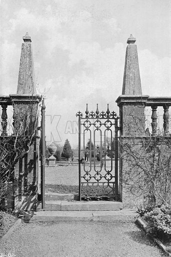 Garden Gates at Montacute. Photograph in Gardens Old and New Vol III (Country Life, c 1910).