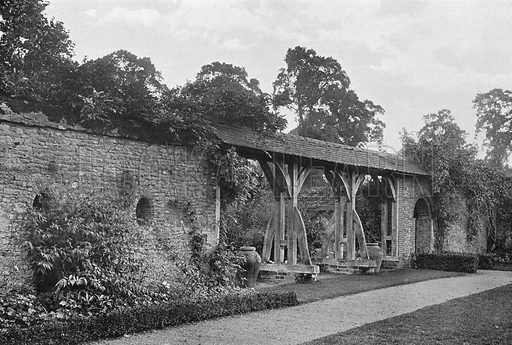 The Walled Garden. Photograph in Gardens Old and New Vol III (Country Life, c 1910).