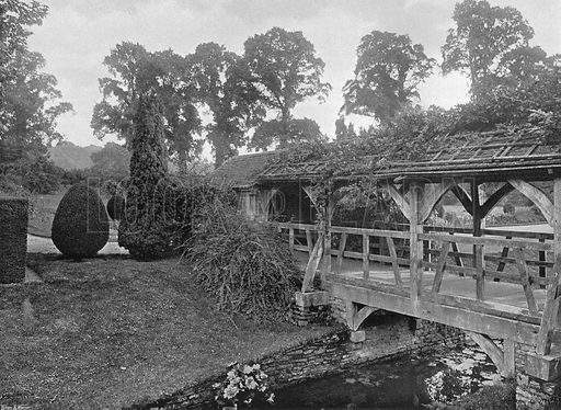 The Bridge. Photograph in Gardens Old and New Vol III (Country Life, c 1910).
