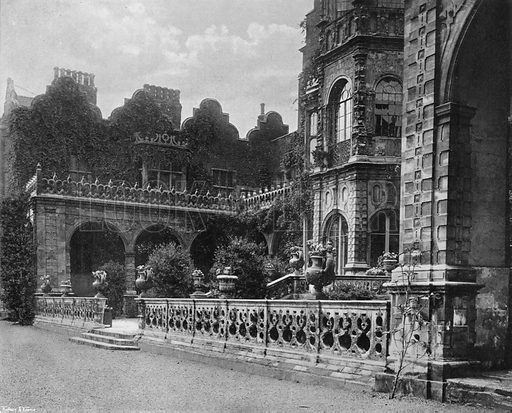 The South Terrace. Photograph in Gardens Old and New Vol III (Country Life, c 1910).