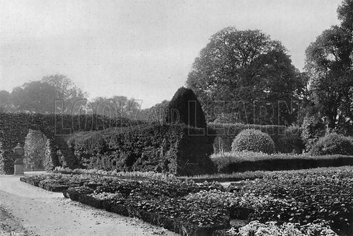 The Old Garden. Photograph in Gardens Old and New Vol III (Country Life, c 1910).