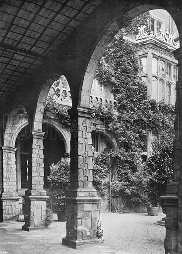 The West Cloister. Photograph in Gardens Old and New Vol III (Country Life, c 1910).