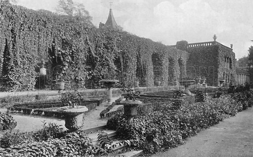 The Box Garden Terrace. Photograph in Gardens Old and New Vol III (Country Life, c 1910).