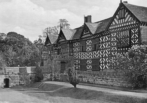 The North-West Front. Photograph in Gardens Old and New Vol III (Country Life, c 1910).