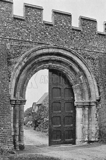 To the Tithe Barn. Photograph in Gardens Old and New Vol III (Country Life, c 1910).