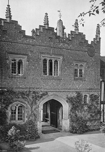 Henry VII Gateway. Photograph in Gardens Old and New Vol III (Country Life, c 1910).