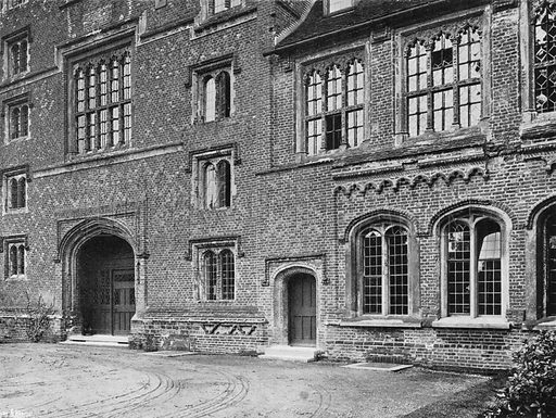 Detail of North Front. Photograph in Gardens Old and New Vol III (Country Life, c 1910).