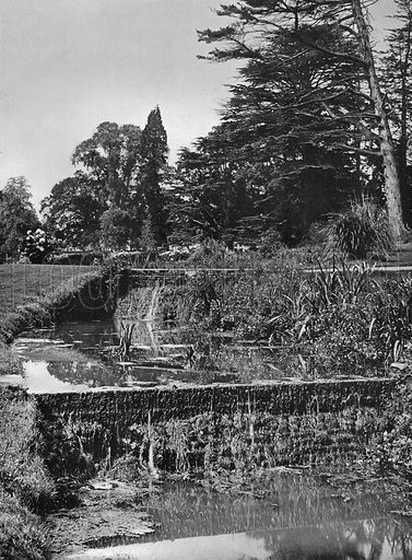 The Garden Waterfalls. Photograph in Gardens Old and New Vol III (Country Life, c 1910).