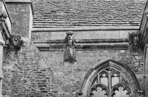 Gargoyles. Photograph in Gardens Old and New Vol III (Country Life, c 1910).