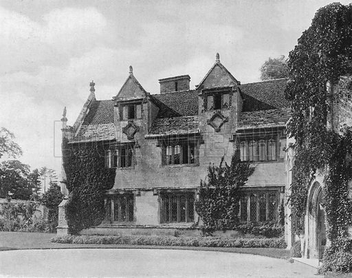 West Wing. Photograph in Gardens Old and New Vol III (Country Life, c 1910).