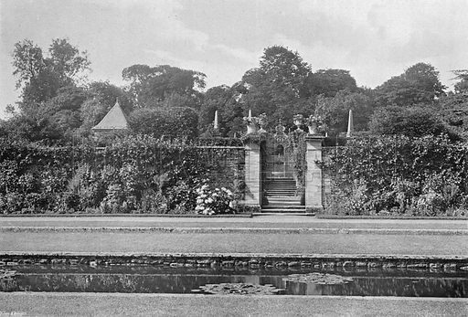 Across the Green Court. Photograph in Gardens Old and New Vol III (Country Life, c 1910).