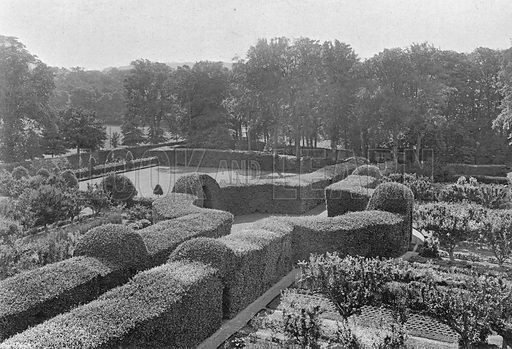 Levens Hall: The Bowling Green. Photograph in Gardens Old and New Vol III (Country Life, c 1910).