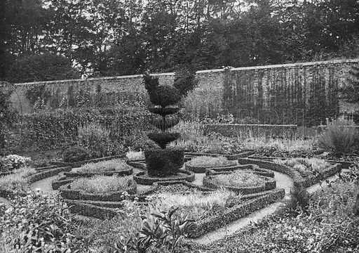Tyninghame: A Garden within a Garden. Photograph in Gardens Old and New Vol III (Country Life, c 1910).