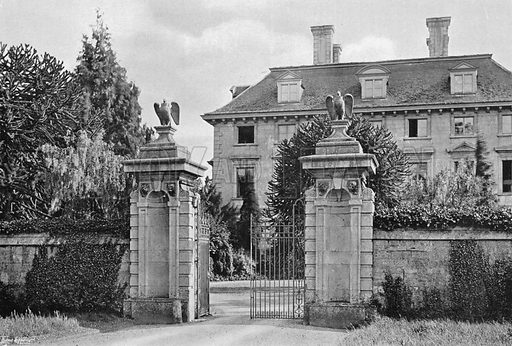 Thorpe Hall Entrance. Photograph in Gardens Old and New Vol III (Country Life, c 1910).