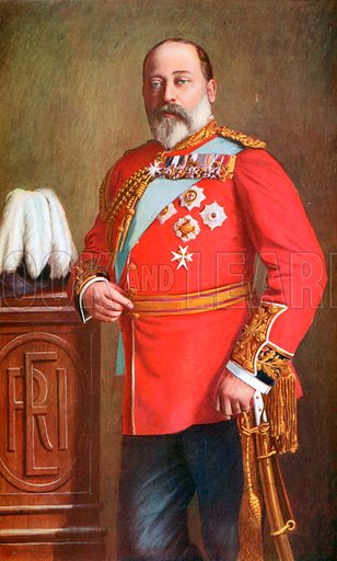 King Edward VII. Illustration for King Edward VII (Gresham, 1910).