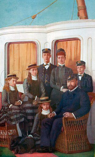 King Edward and his Family on Board the Royal Yacht Osborne. Illustration for King Edward VII (Gresham, 1910).