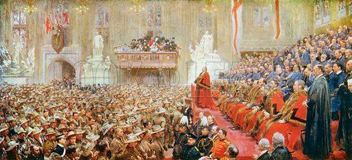 The City of London Imperial Volunteers' Return to London, October 29th, 1900. Illustration for King Edward VII (Gresham, 1910).
