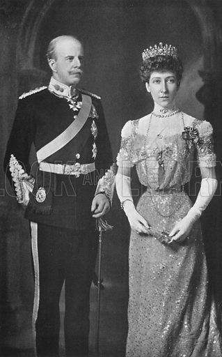 The Duke and Duchess of Fife. Illustration for King Edward VII (Gresham, 1910).