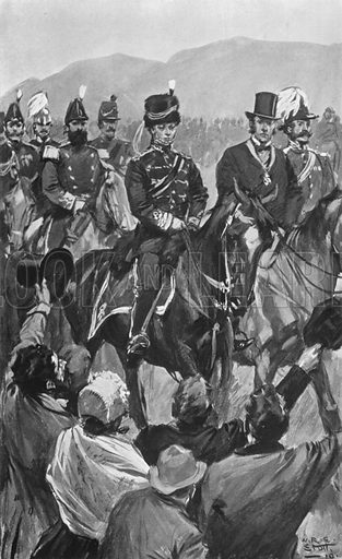 The Review of Troops in Phoenix Park, Dublin, May 10th, 1865. Illustration for King Edward VII (Gresham, 1910).