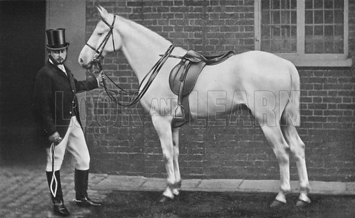King Edward as Horseman. Illustration for King Edward VII (Gresham, 1910).