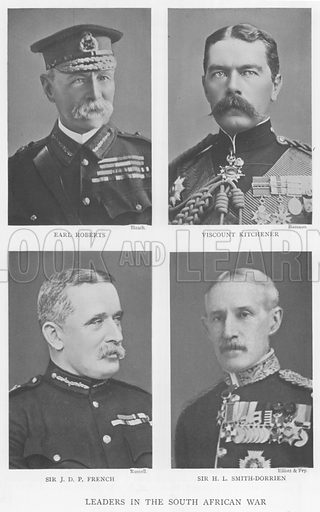 Leaders in the South African War. Illustration for King Edward VII (Gresham, 1910).
