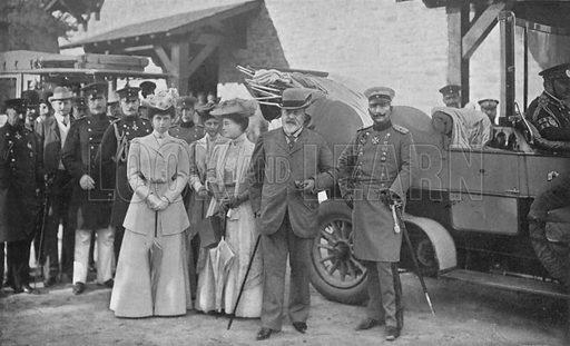 King Edward and the Kaiser at Homburg. Illustration for King Edward VII (Gresham, 1910).