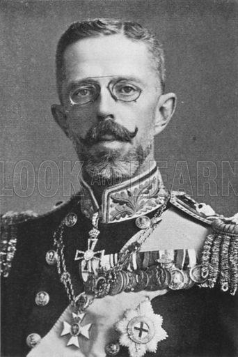 Gustavus V, King of Sweden. Illustration for King Edward VII (Gresham, 1910).