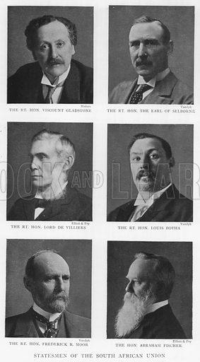 Statesmen of the South African Union. Illustration for King Edward VII (Gresham, 1910).