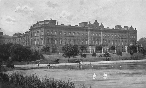 Buckingham Palace. Illustration for King Edward VII (Gresham, 1910).