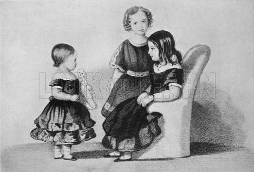 Victoria, Albert, and Alice, the Three Eldest Children of Queen Victoria. Illustration for King Edward VII (Gresham, 1910).