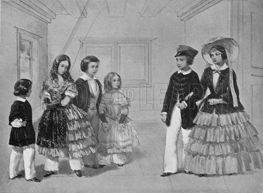 "Scene from Schiller's ""Wallenstein"", with King Edward as ""Max"". Illustration for King Edward VII (Gresham, 1910)."