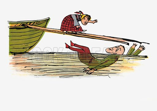 There was an Old Person of Cadiz.  Illustration for A Book of Nonsense (Frederick Warne, c 1875).  Colouring probably done by Edward Lear himself.